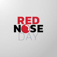 Red Nose Day icon design, medical logo. Vector illustration