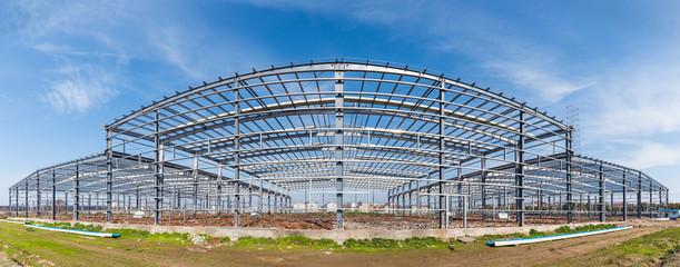 Poster Industrial geb. steel structure workshop