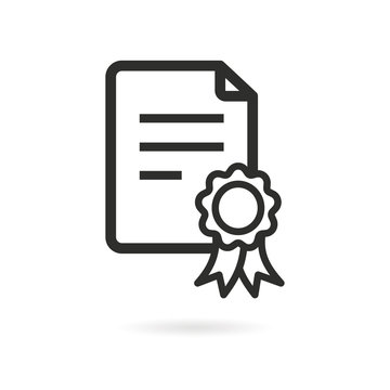 Certificate vector icon.