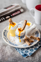 Soft Boiled Eggs with Bread Soldiers
