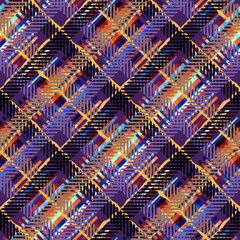Seamless background. Geometric abstract diagonal plaid pattern.