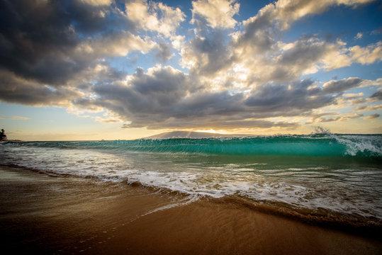 Wave Crash Sunset