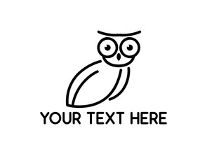 owl line logo illustration design.simple line style design.designed for brand and identity
