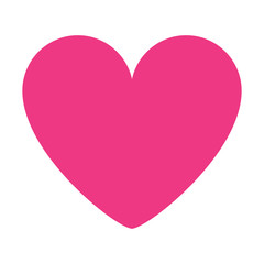 pink heart love romantic passion icon vector illustration