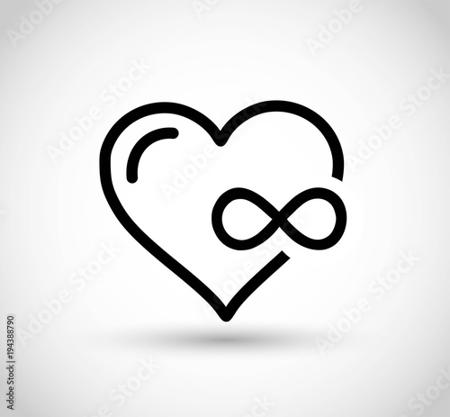 Heart With Infinity Sign Vector Stock Image And Royalty Free Vector