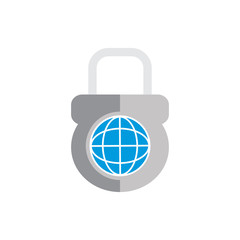World Lock Logo Icon Design
