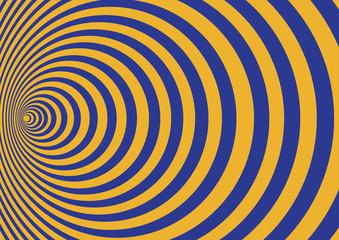 Blue orange radial circles