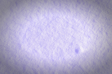 Beautiful texture of a pale lilac snow. Blank white background with a vignette. Place under the text.