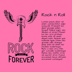 Rock n Roll Music Forever Vector Illustration