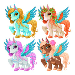 Papiers peints Chambre d enfant Baby pegasus for freedom and magic
