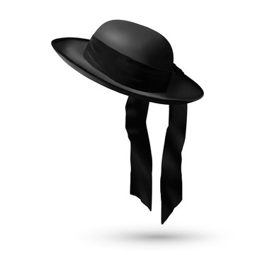Black breton vector mens hat