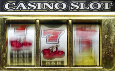 rerto slot machine close up