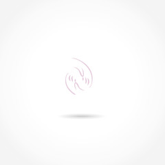hands care vector icon