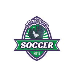Vector soccer college team football ball icon