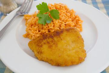 cordon bleu et riz