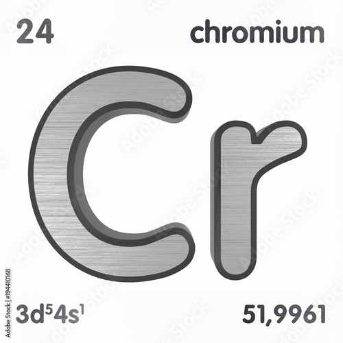 Chromium Cr Chemical Element Sign Of Periodic Table Of Elements