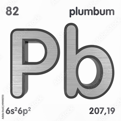 Lead Pb Or Plumbum Chemical Element Sign Of Periodic Table Of