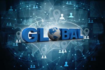 3d illustration global