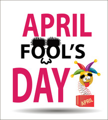 April fool's day.  Colorful, vector illustration.
