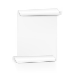 Clear White Paper Scroll. Sheet Roll On Both Sides