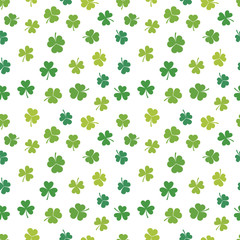 St. Patrick's day vector shamrocks seamless pattern