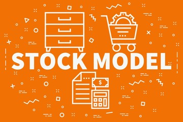 Conceptual business illustration with the words stock model