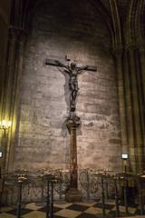 Christ on the cross in Notre Dame de Paris