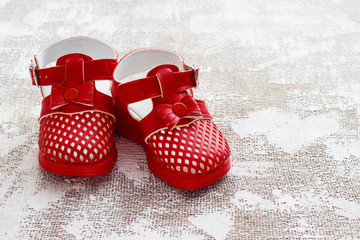 children's shoes on a light background