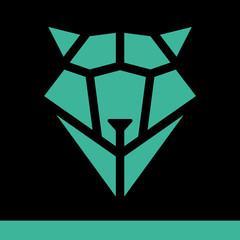 Wolf head geometric style. Polygonal triangular animal illustration