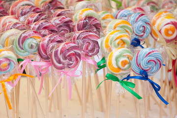 colorful lollipops - counter, sale,