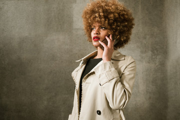 Attractive woman with smartphone