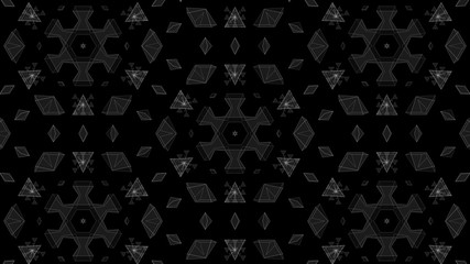 Tunnel Motion Effects with Hexagonal Pyramids