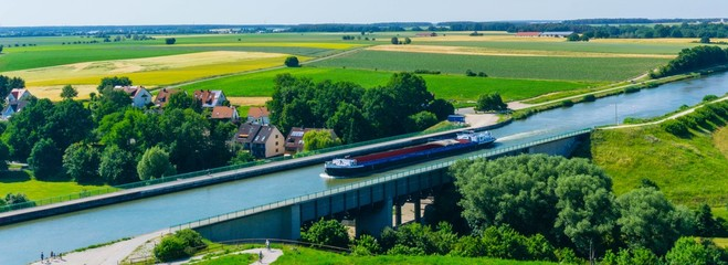 Panorama Trogbrücke Fürth Main-Donau-Kanal