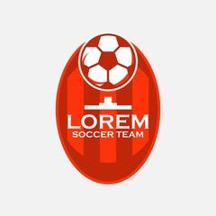 Soccer Team Logo Vector Template Design
