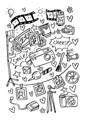 Photographic doodles set