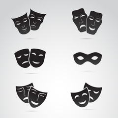 Ancient mask vector icon.