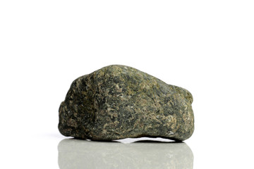 Set Rock stone with names, isolated on a white background with shadow,  beautiful lighting, reflections. Granite.