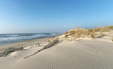 plage d'Hourtin sur  le littoral de Gironde Fototapete