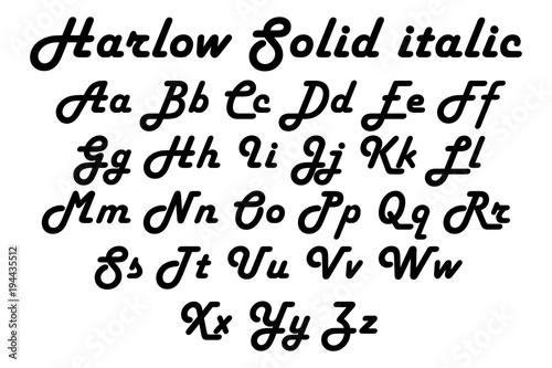 Harlow solid italic italic free font download.