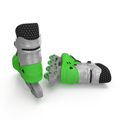 Roller Skates on white background. 3D illustration