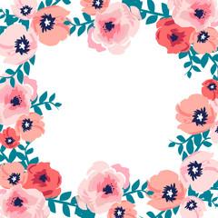 wild flowers - watercolor illustration