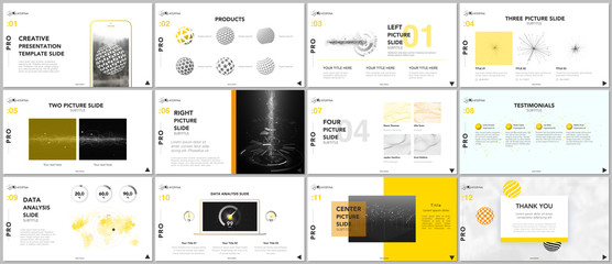 Minimal presentation templates. Tech elements on white background. Technology sci-fi concept vector design. Presentation slides for flyer, leaflet, brochure, report, marketing, advertising, banner