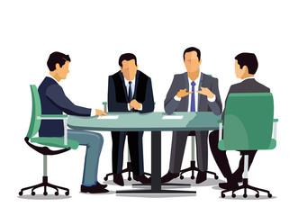 Gesprächsrunde in der Besprechung