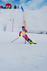 Slalom skiing competition