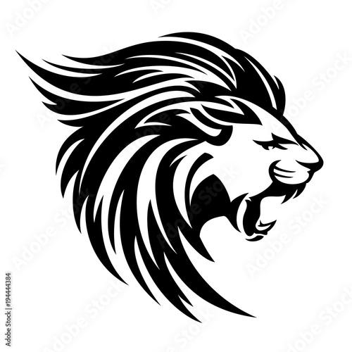 """Roaring Lion Profile Tattoo """"roaring l..."""