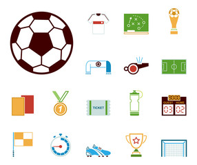 Fußball - Icons (in Farbe)