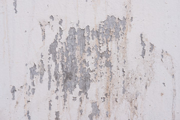 Close-up grungy white concrete wall background