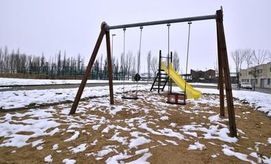 parque en invierno
