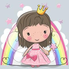 Cute Cartoon fairy tale Princess fairy
