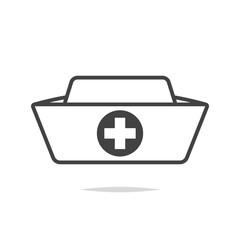 Nurse hat line icon vector